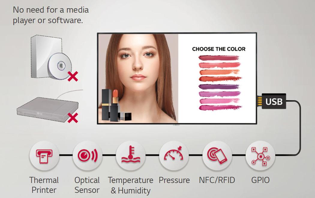 LG98UH5F-H UHD Digital Signage Display